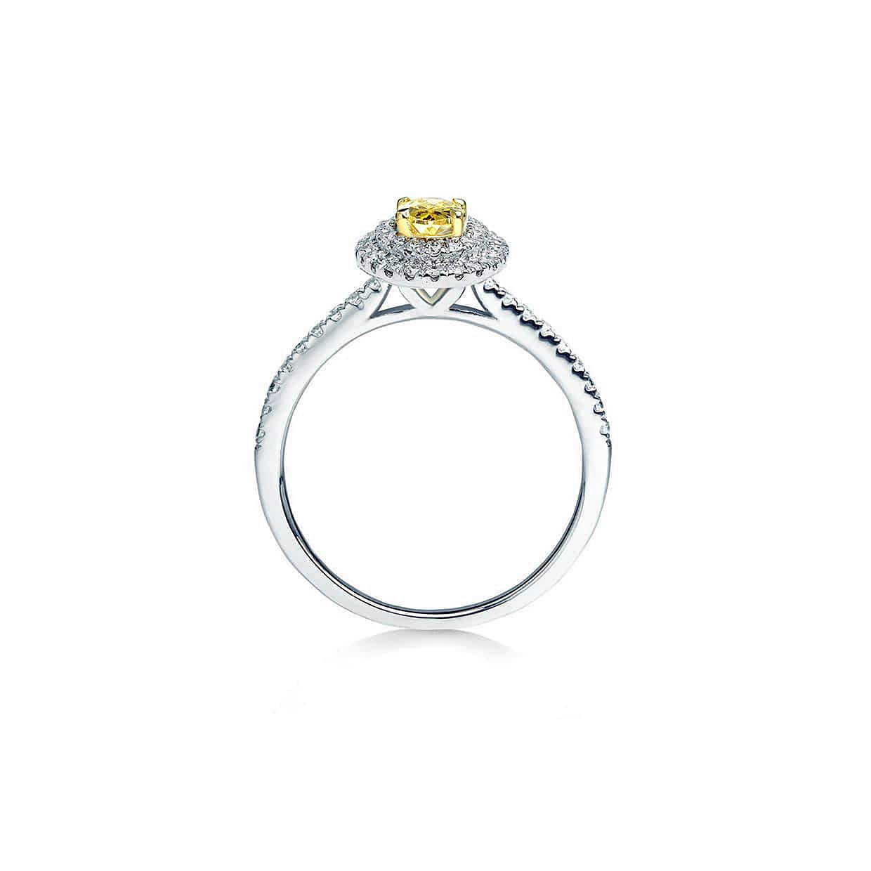 Diamond Double Yellow Oval Ring - Abelstedt