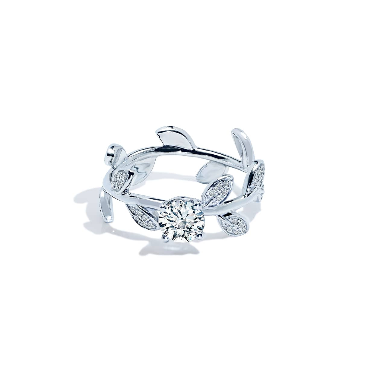 Diamond Flower Solitaire Ring - Abelstedt