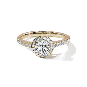 Diamond Halo Gold Ring - Abelstedt
