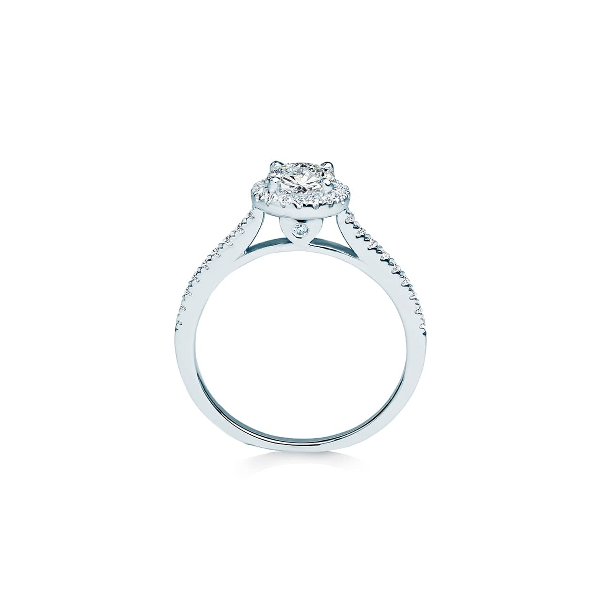 Diamond Halo Ring - Abelstedt
