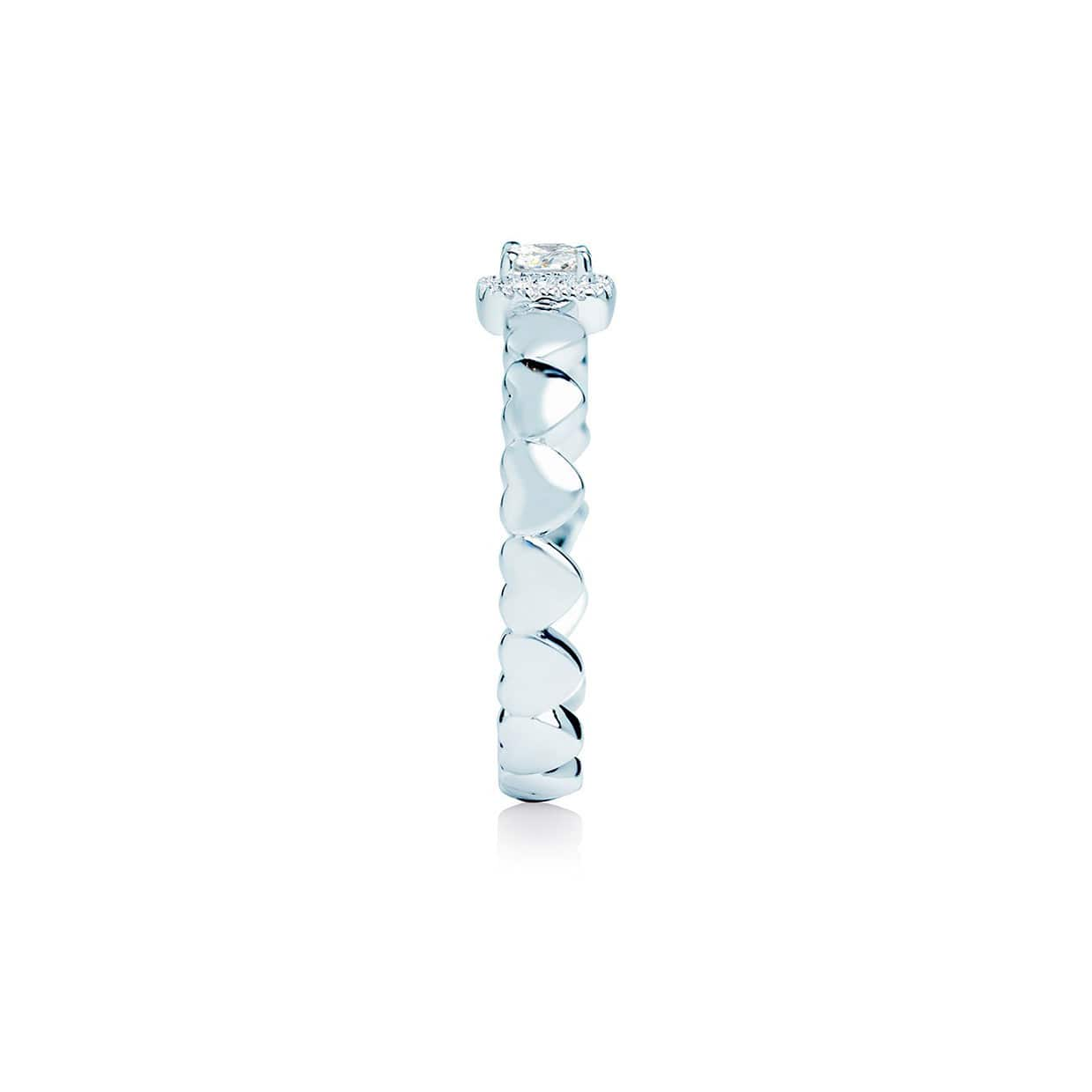 Diamond Heart Band Ring - Abelstedt