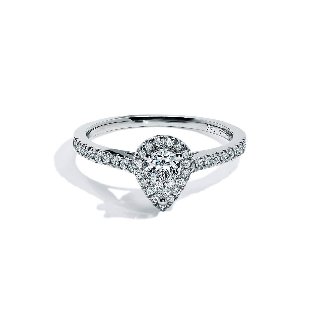 Diamond Pear Cut Ring - Abelstedt