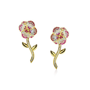 Flora Gold One Flower Earrings - Abelstedt