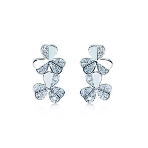 Flora Silver Clover Earrings - Abelstedt