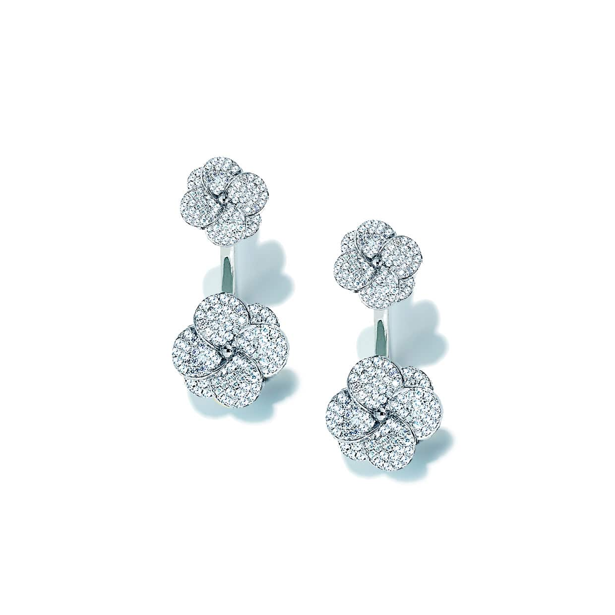 Flora Silver Double Flower Earrings - Abelstedt