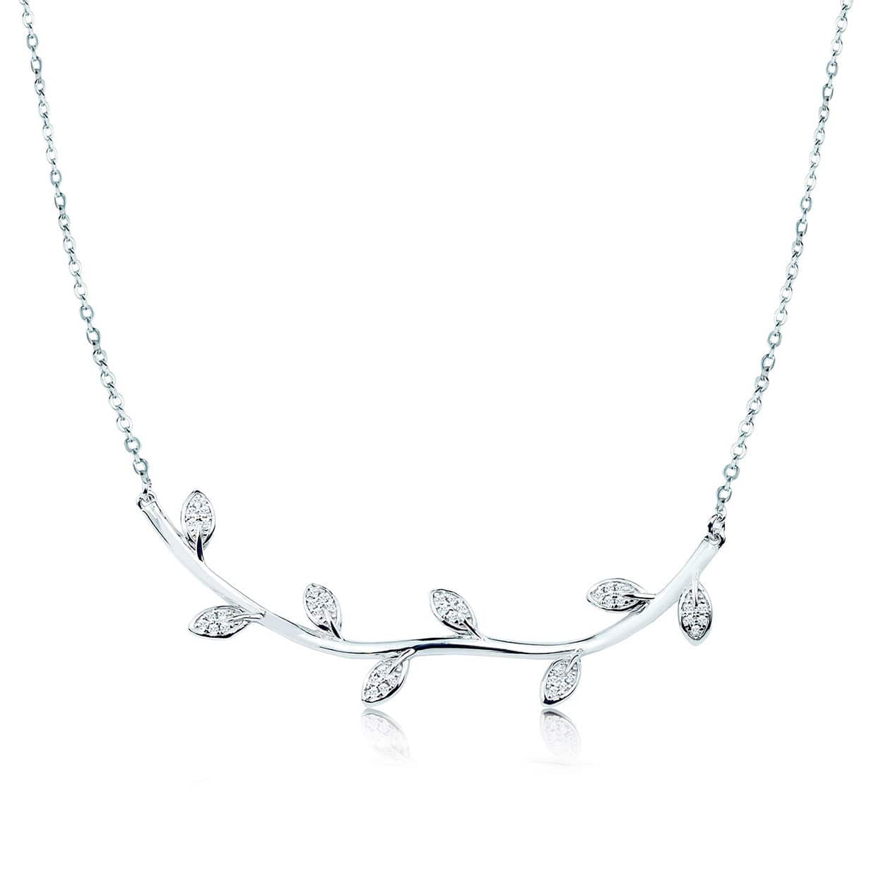 Flora Silver Leaf Necklace - Abelstedt