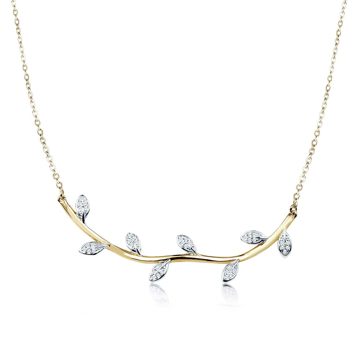 Flora Simple Gold Leaf Necklace - Abelstedt