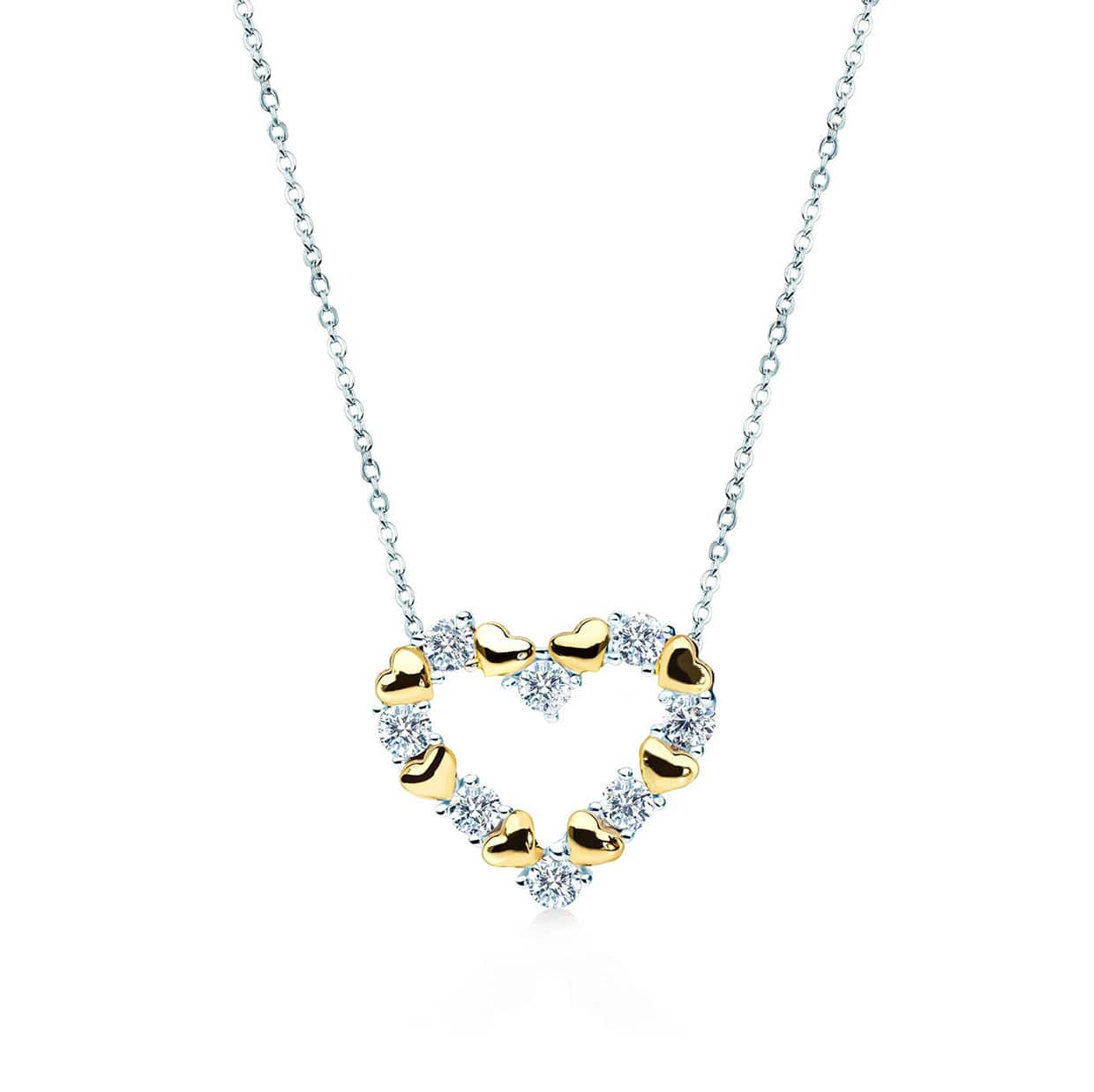 Loving Gold Heart Necklace - Abelstedt