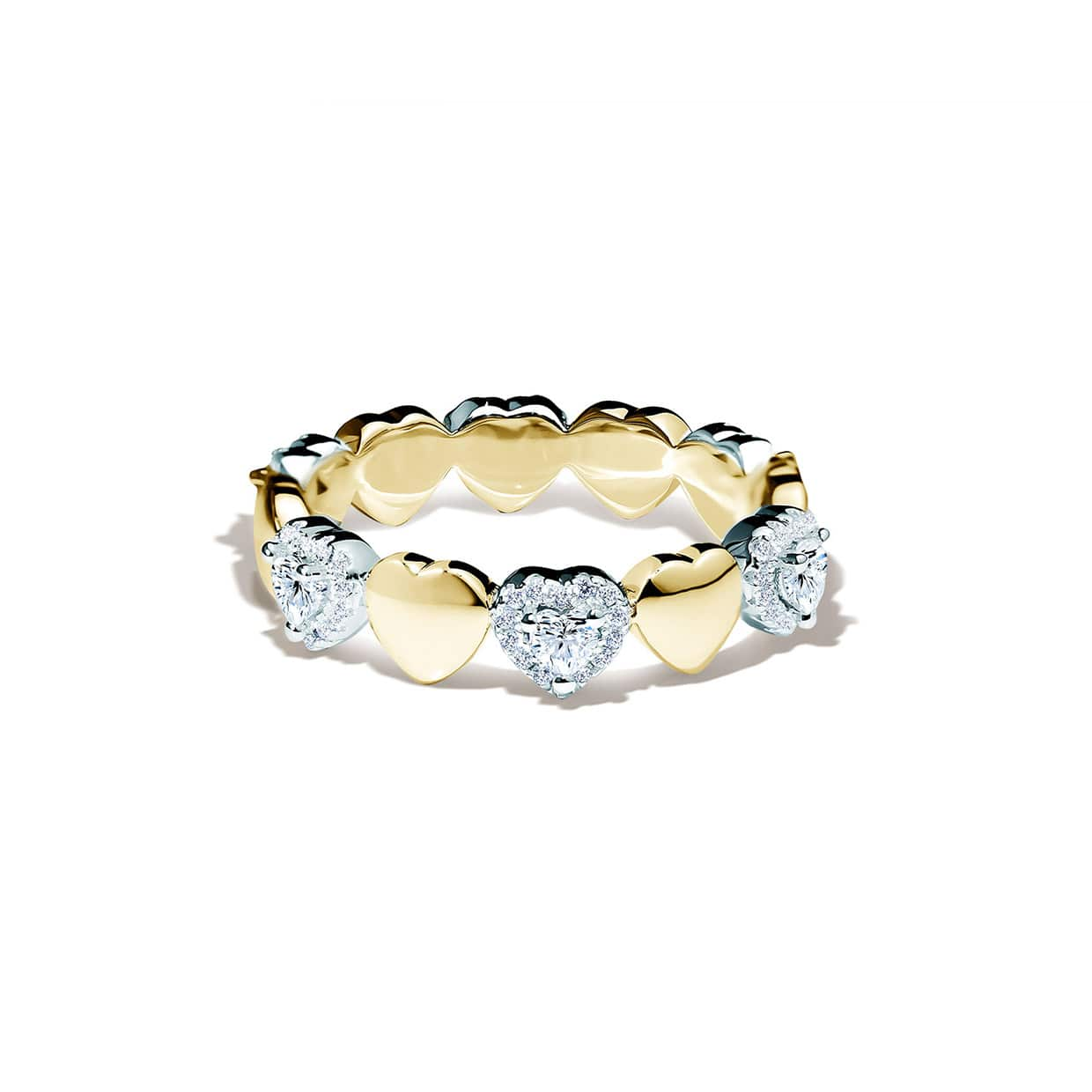 Loving Heart Band Gold Ring - Abelstedt