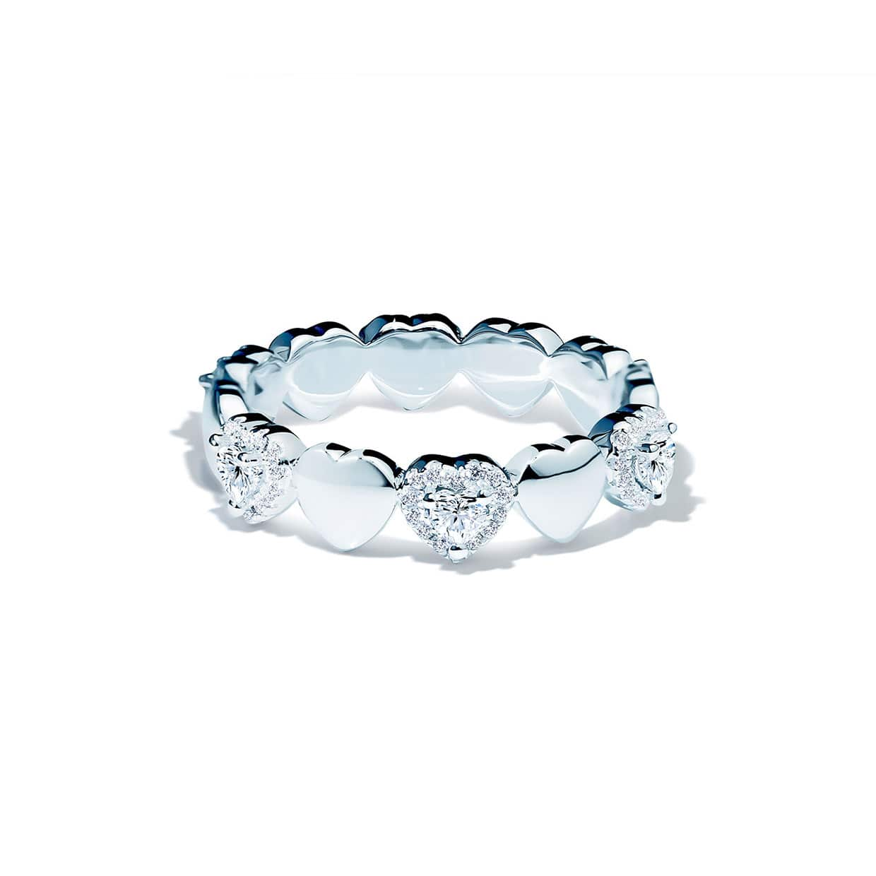 Loving Heart Silver Band Ring - Abelstedt