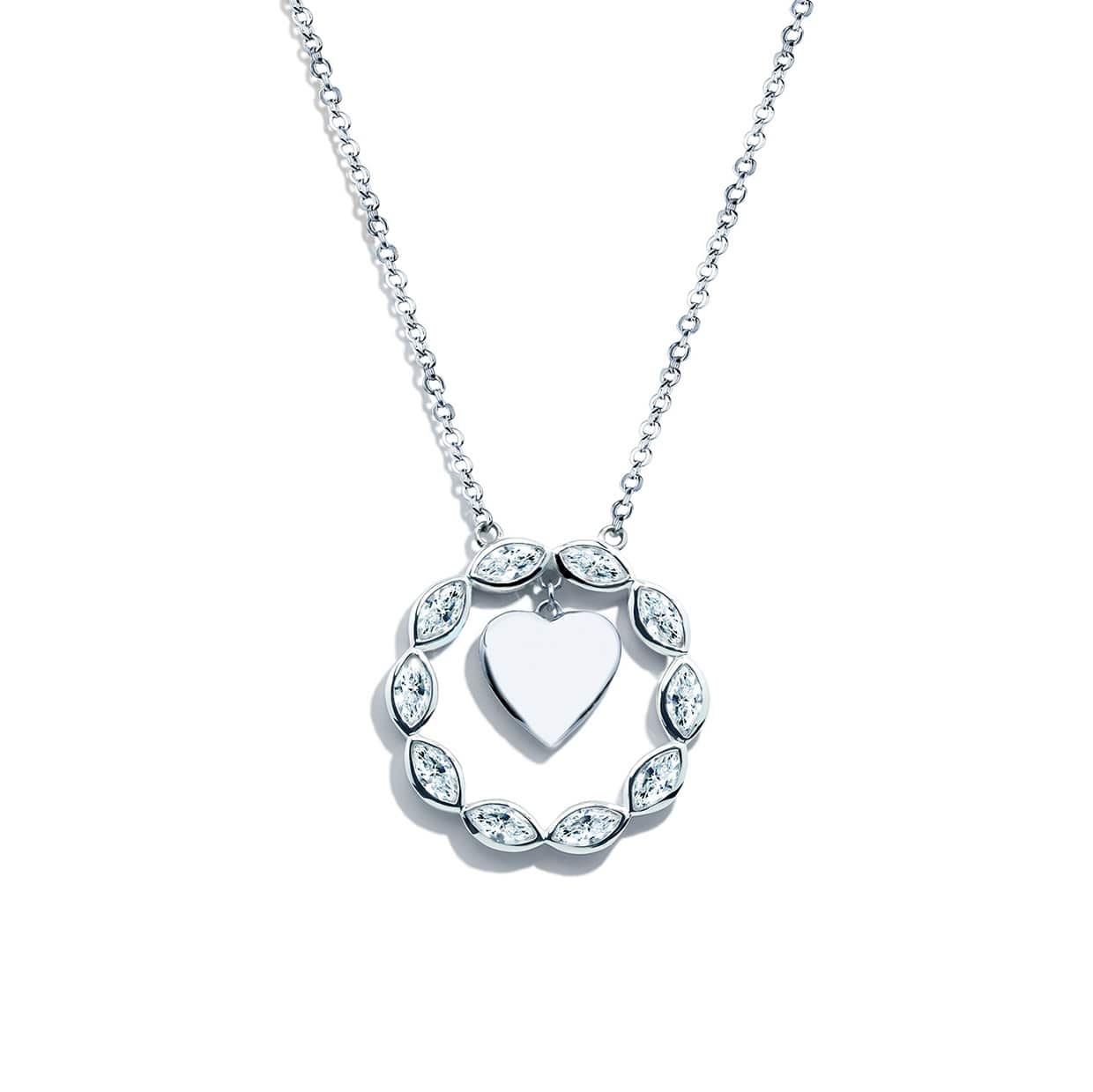 Loving Silver Moveable Heart Necklace - Abelstedt