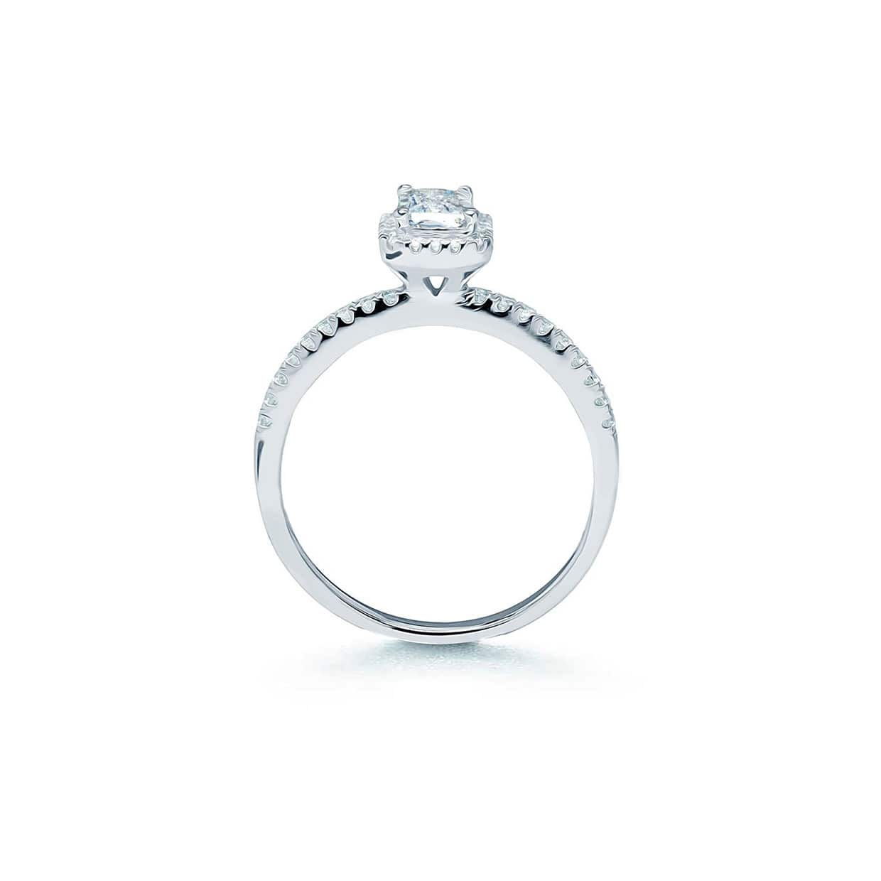 Oxford Classic Halo Radiant Ring - Abelstedt