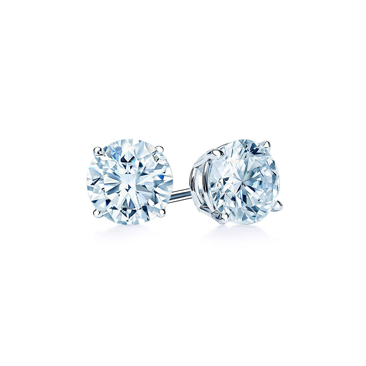 Oxford Classic Silver Solitaire Earrings