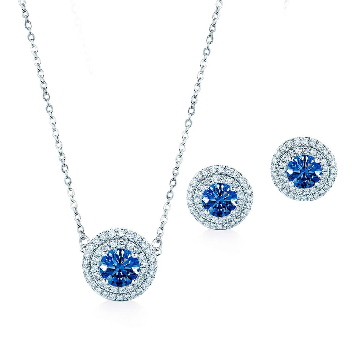 Oxford Double Blue Halo Silver Gift Set