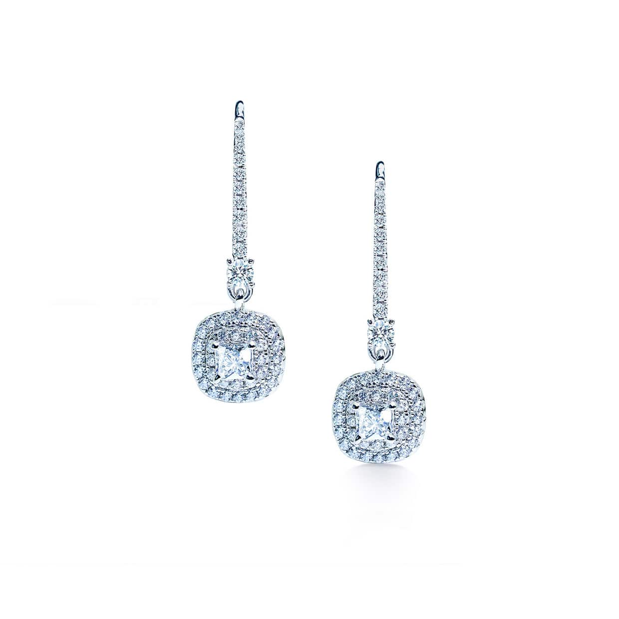 Oxford Double Halo Cushion Earrings - Abelstedt