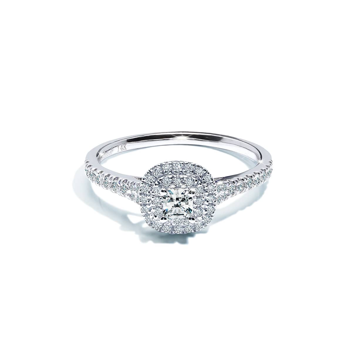 Oxford Double Halo Radiant Ring