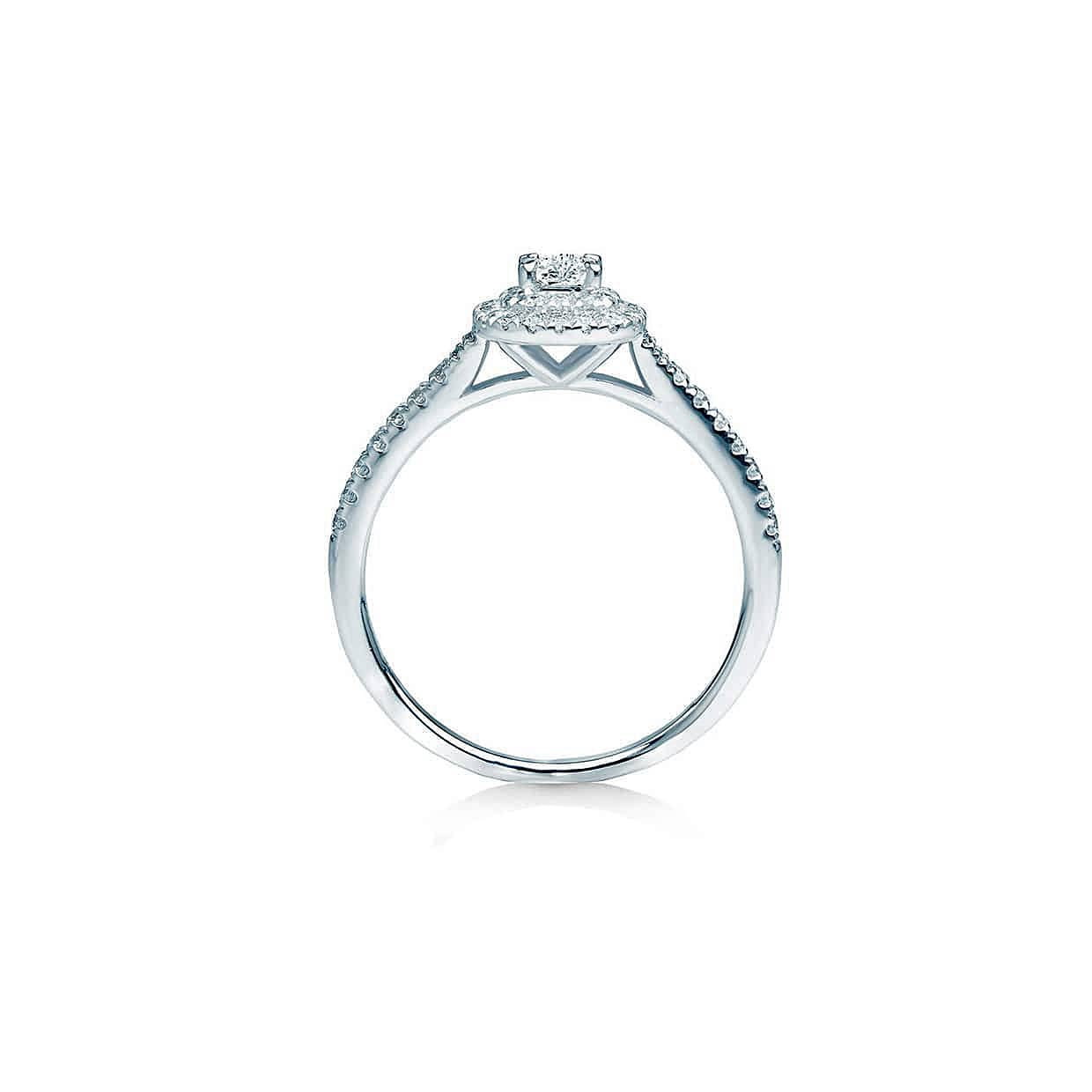 Oxford Double Halo Radiant Ring - Abelstedt