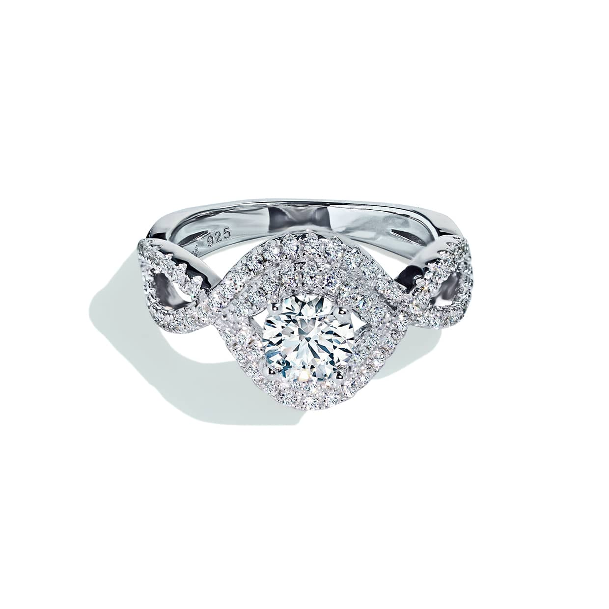 Oxford Double Halo Ring