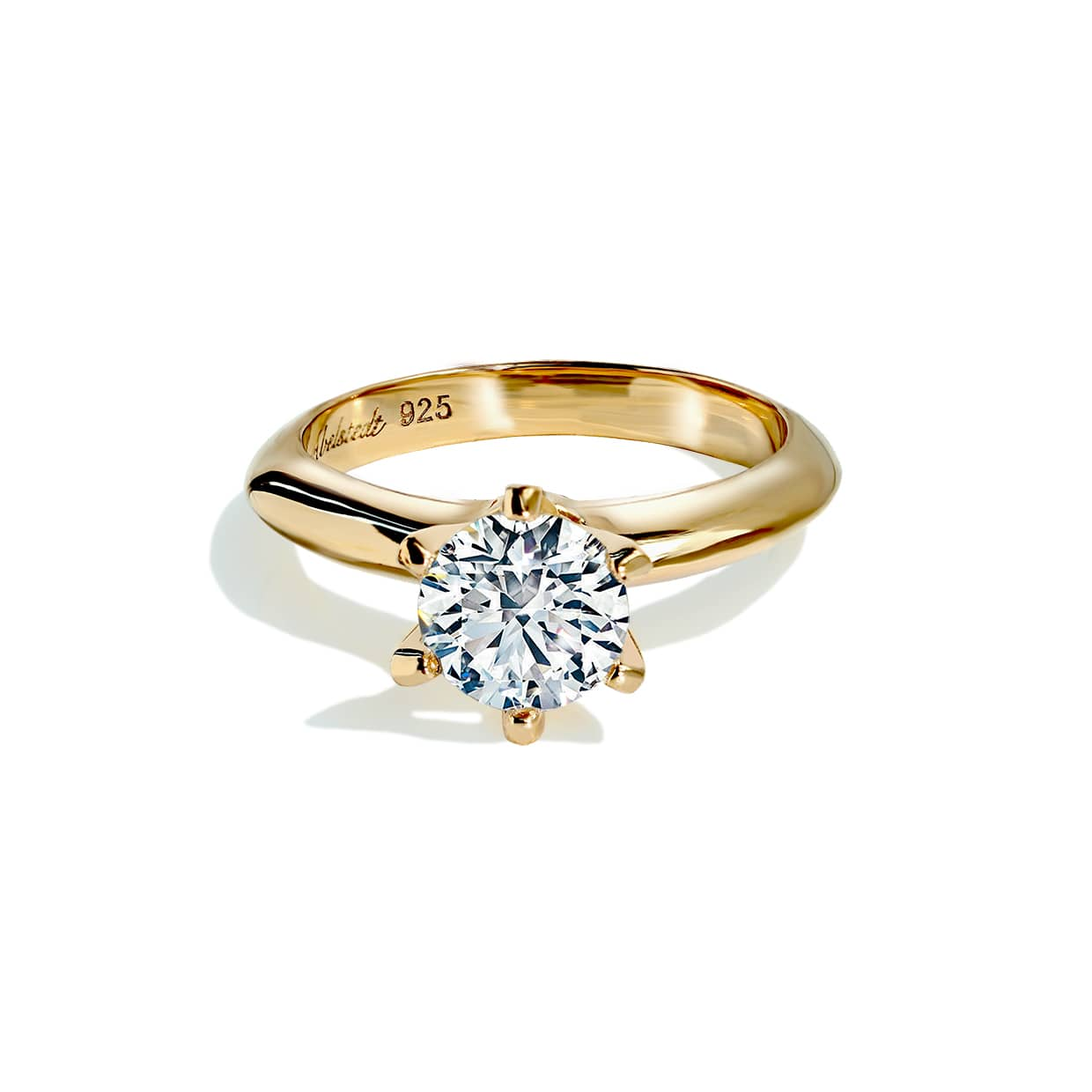Oxford Gold 6 Prong Setting Ring - Abelstedt