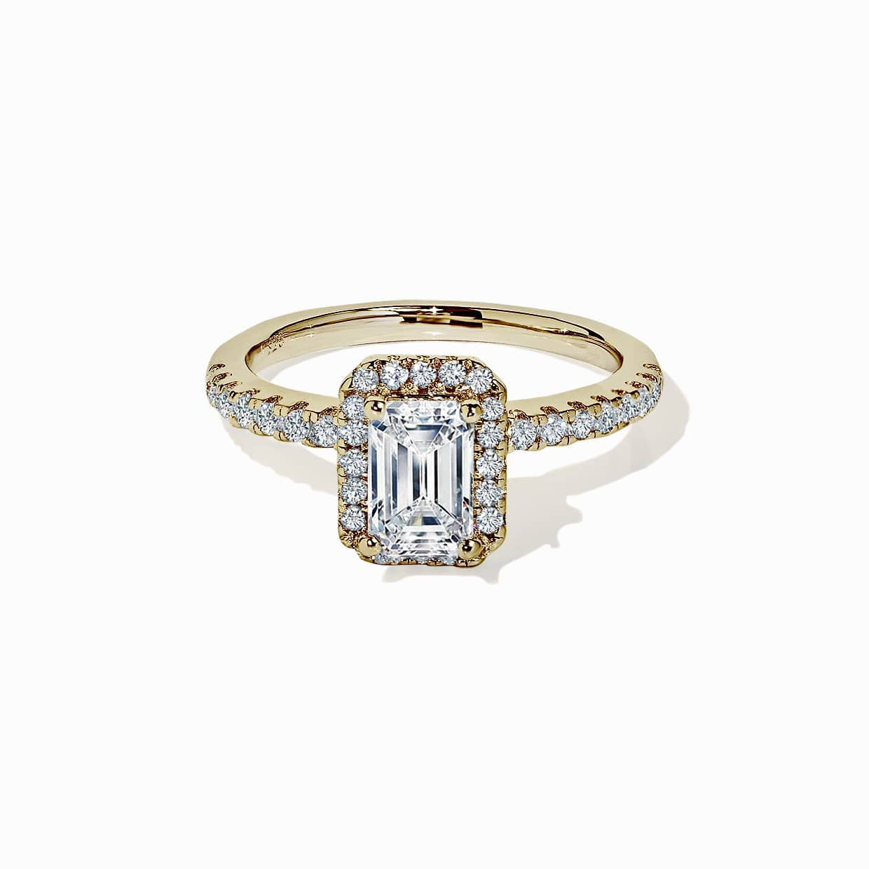 Oxford Gold Classic Halo Radiant Ring