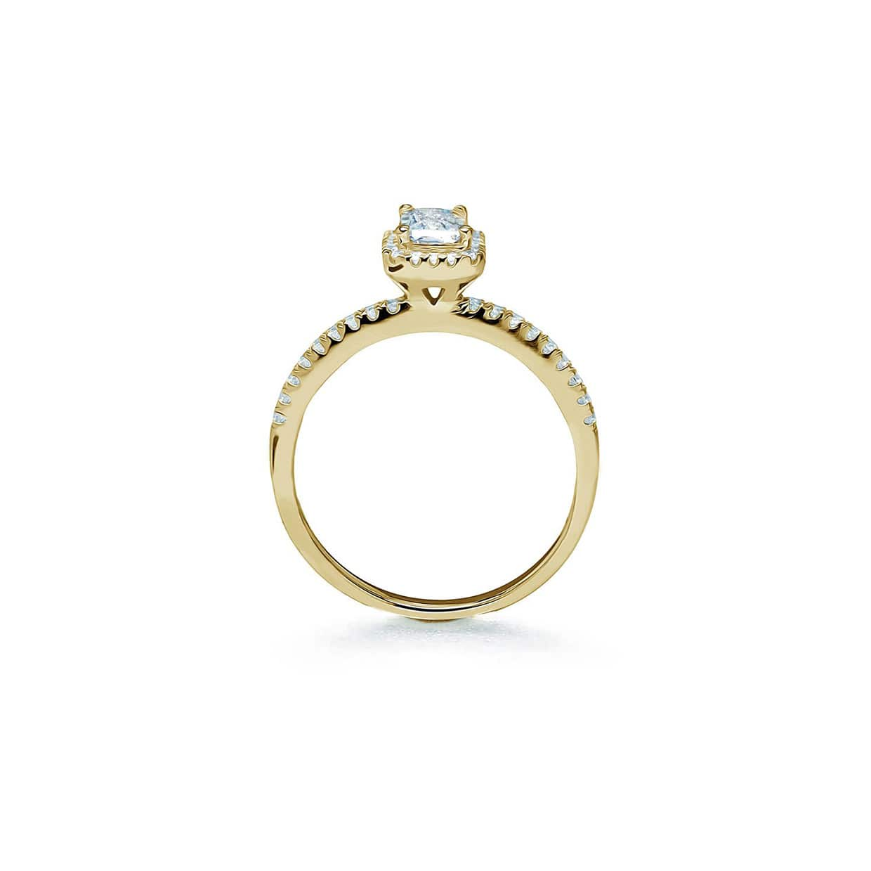 Oxford Gold Classic Halo Radiant Ring - Abelstedt