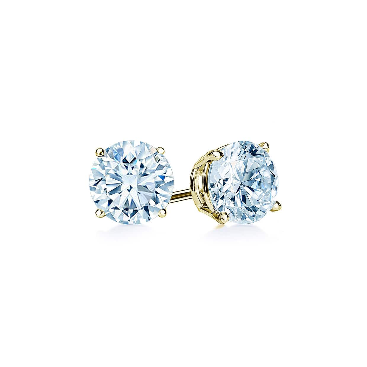 Oxford Gold Classic Solitaire Earrings - Abelstedt