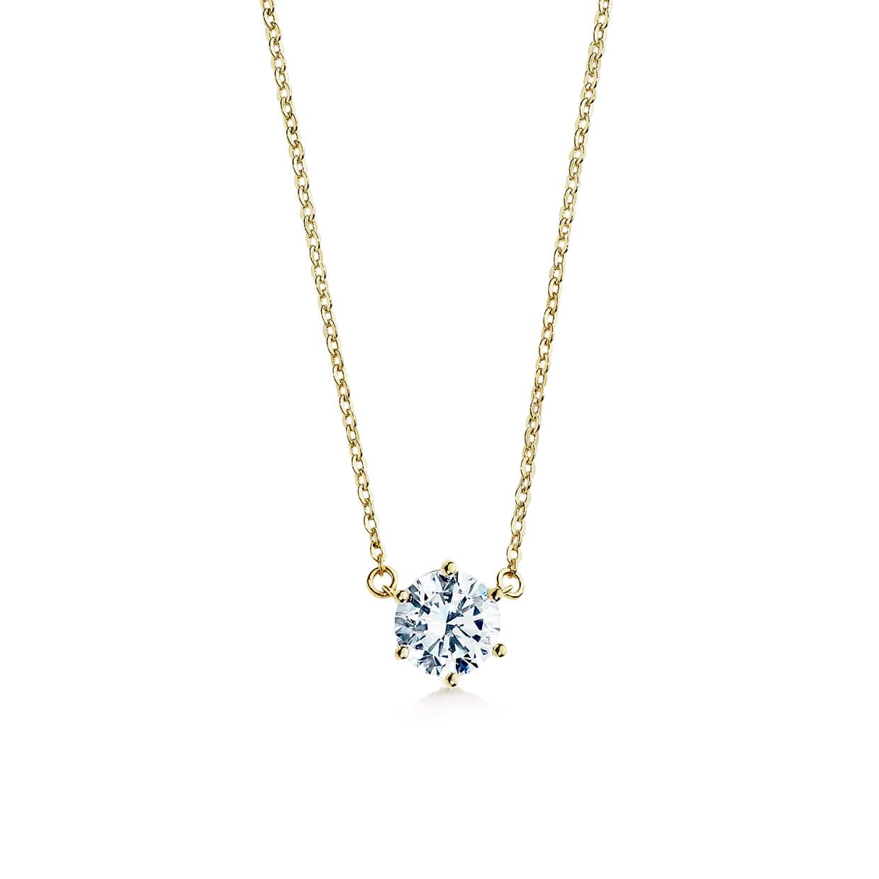 Oxford Gold Classic Solitaire Necklace