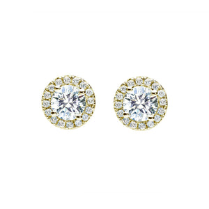 Oxford Gold Halo Earrings - Abelstedt