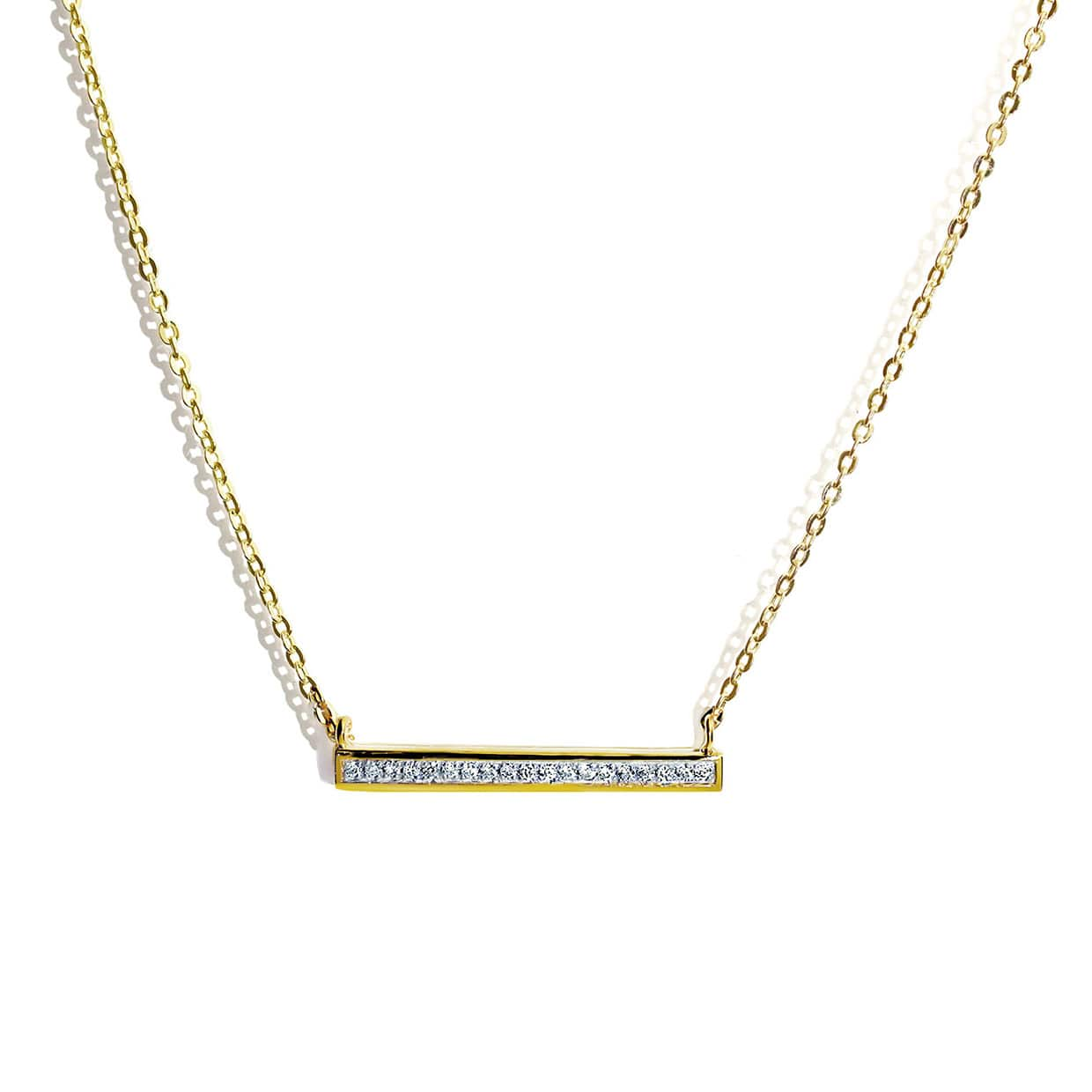 Oxford Gold Long Petite Necklace - Abelstedt