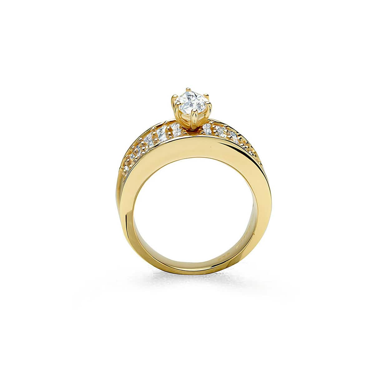 Oxford Gold Marquise & Princess Cut Ring - Abelstedt