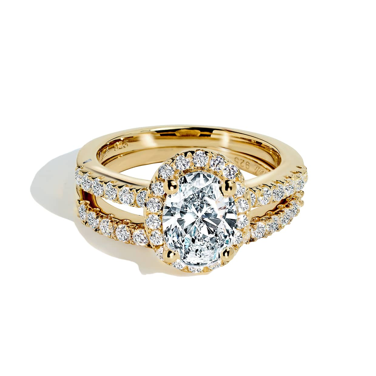 Oxford Gold Oval Halo Ring