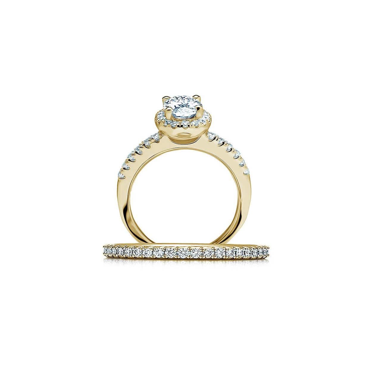 Oxford Gold Oval Halo Ring - Abelstedt