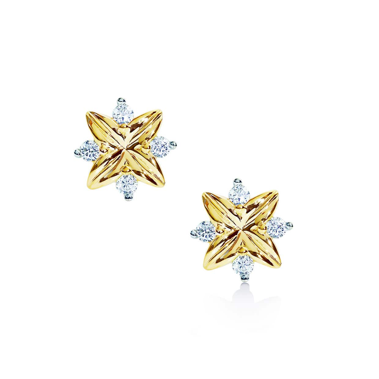 Oxford Gold Petite Star Earrings - Abelstedt
