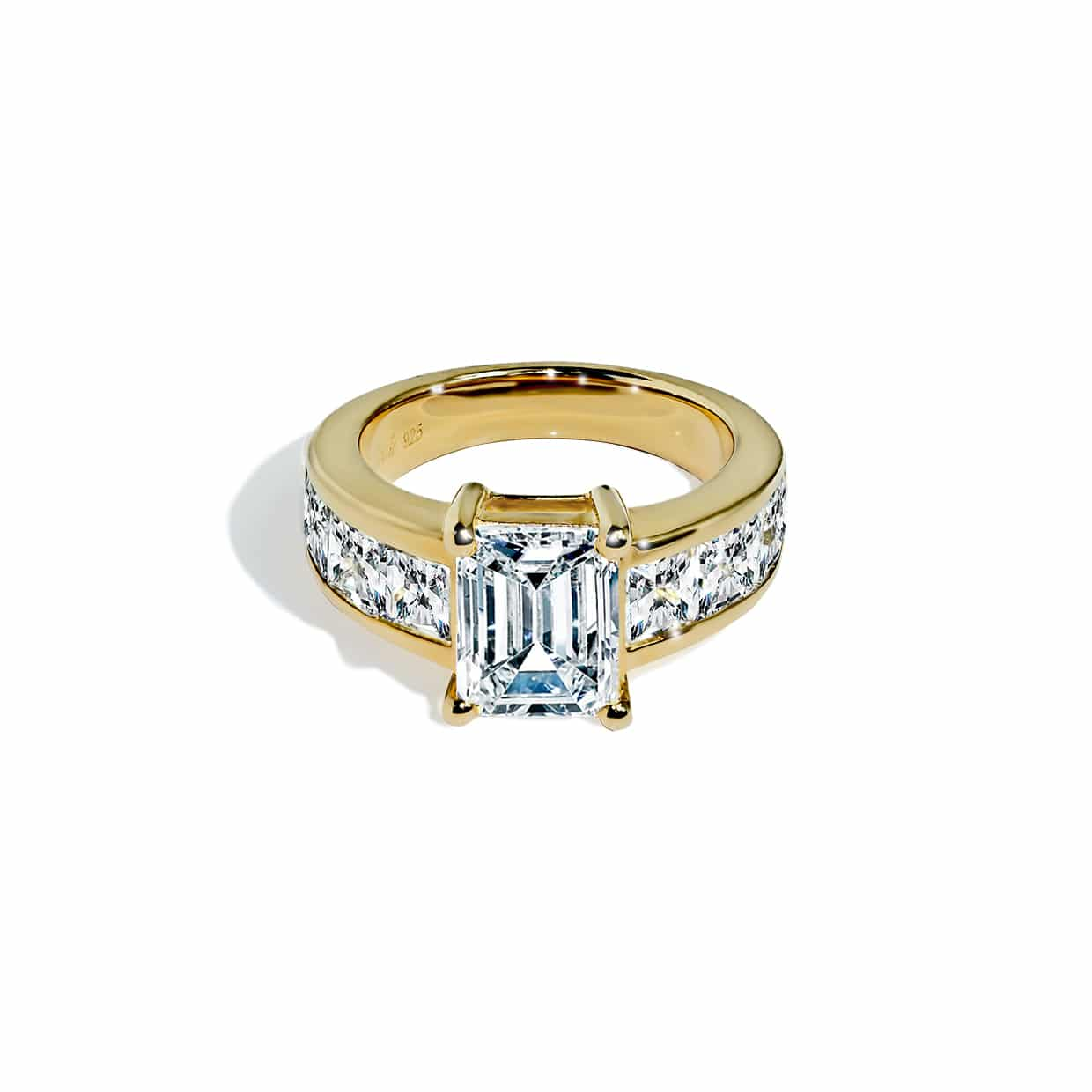 Oxford Gold Radiant & Princess Cut Ring - Abelstedt
