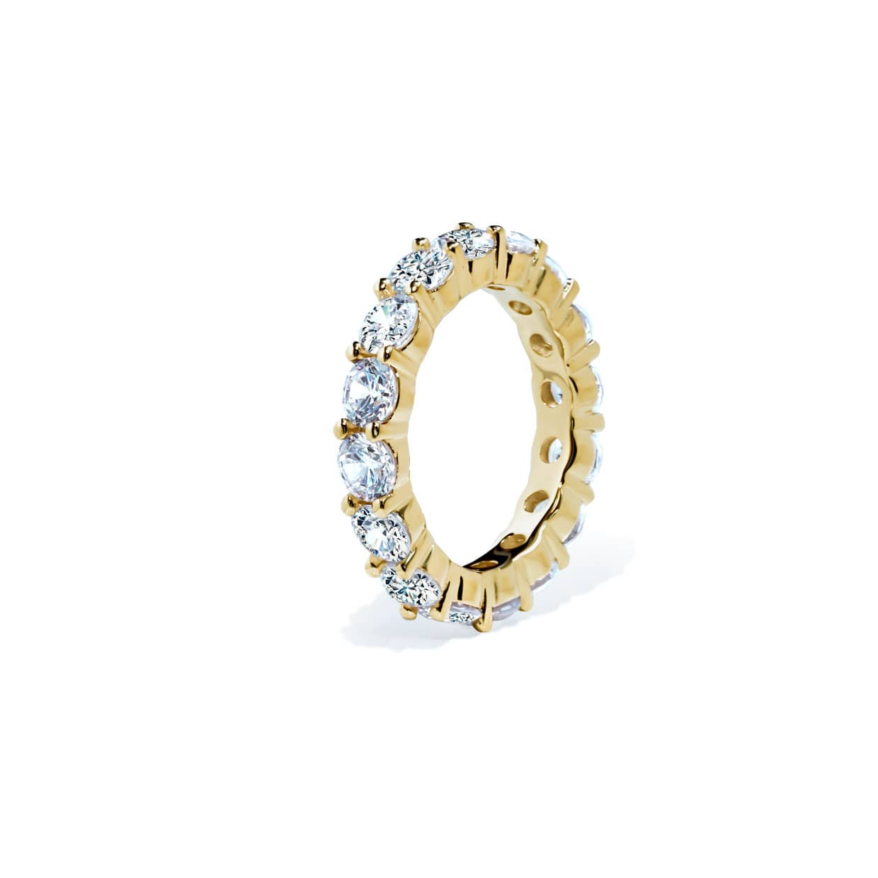 Oxford Gold Round Cut Band Ring - Abelstedt