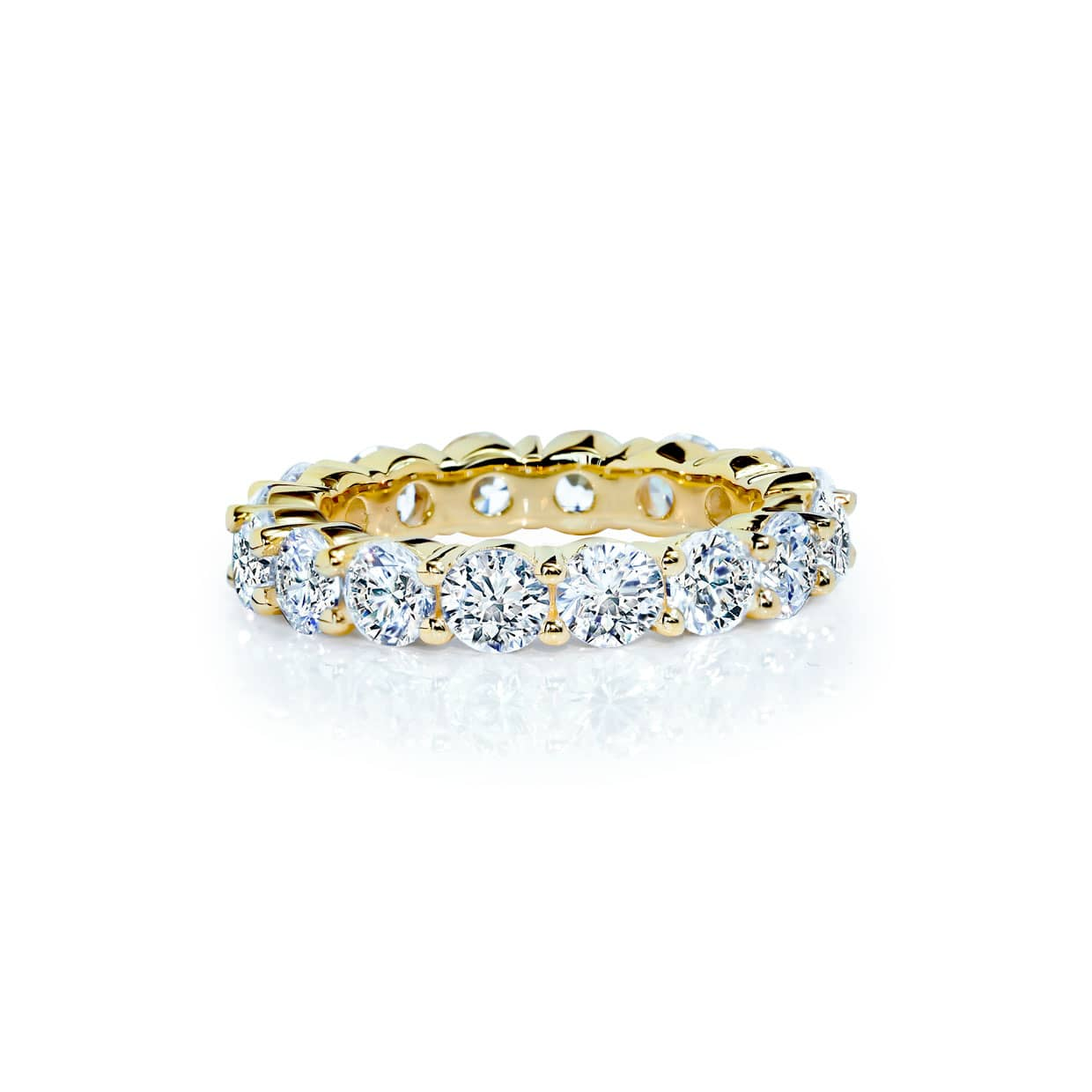 Oxford Gold Round Cut Band Ring