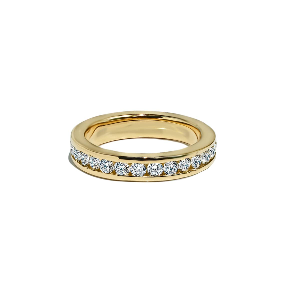 Oxford Gold Round Cut Eternity Ring - Abelstedt