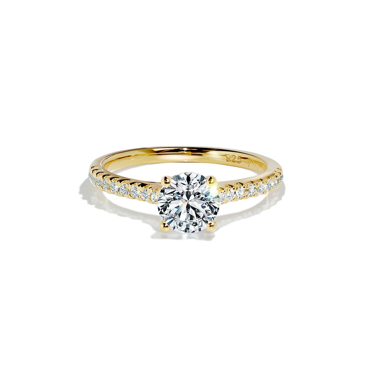 Oxford Gold Solitaire Ring - Abelstedt