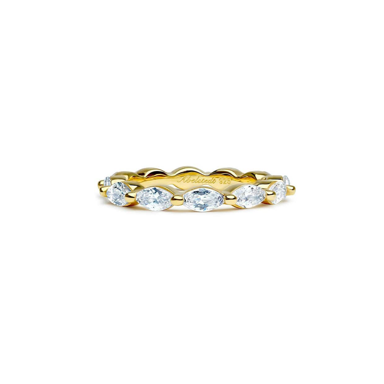Oxford Gold Thin Marquise Ring