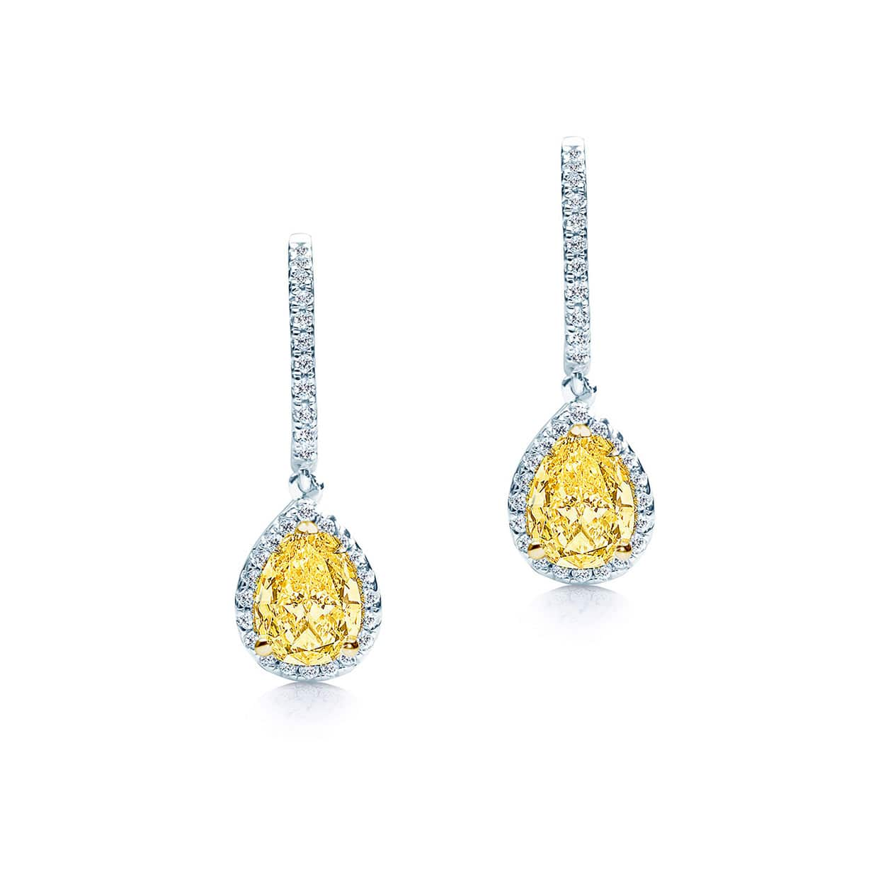 Oxford Long Yellow Pear Drop Earrings - Abelstedt