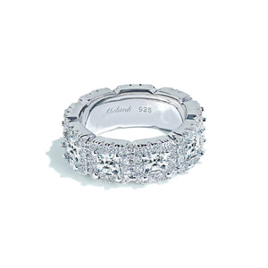 Oxford Princess & Round Cut Eternity Ring - Abelstedt