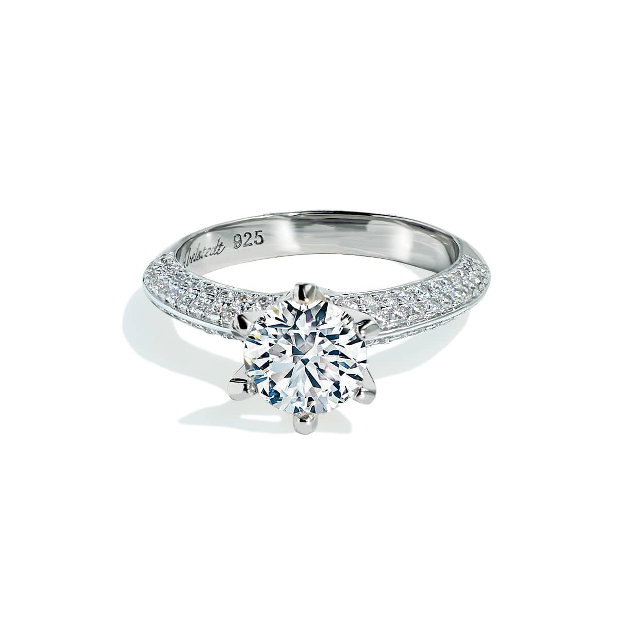 Oxford Side Stone 6 Prong Setting Ring