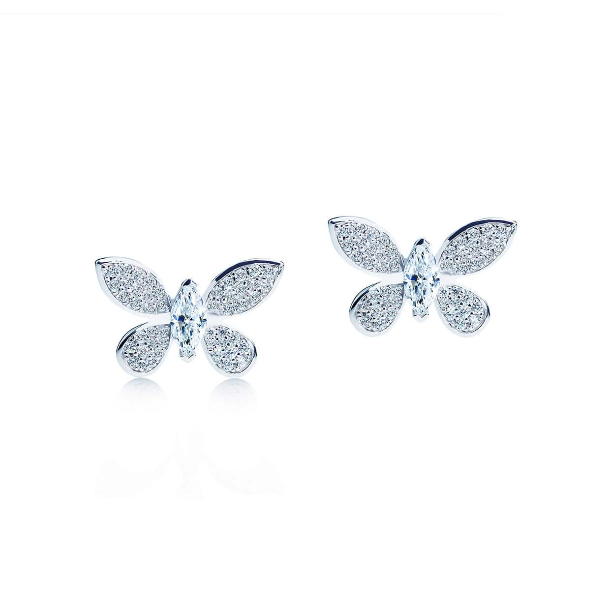 Oxford Silver Butterfly Earrings - Abelstedt