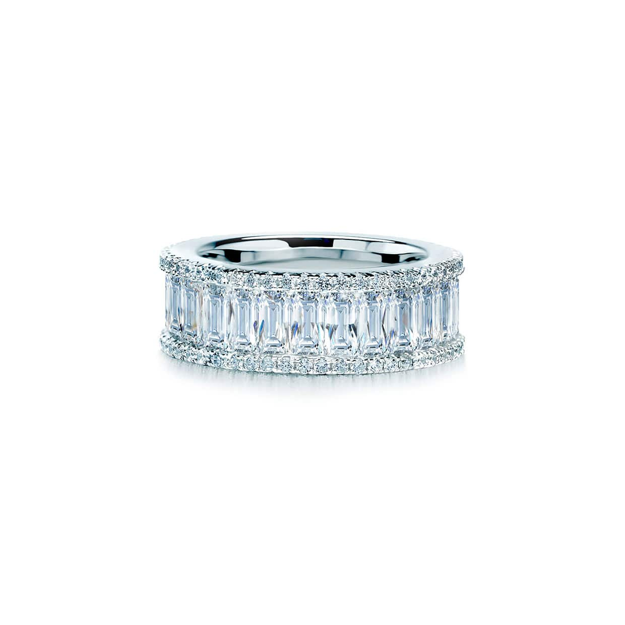 Oxford Silver Emerald Eternity Ring - Abelstedt