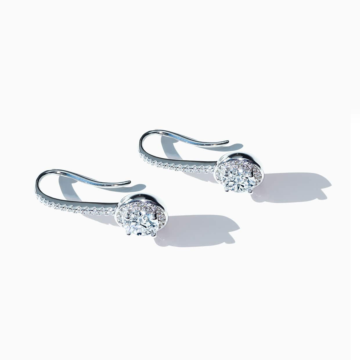 Oxford Silver Long Halo Earrings - Abelstedt