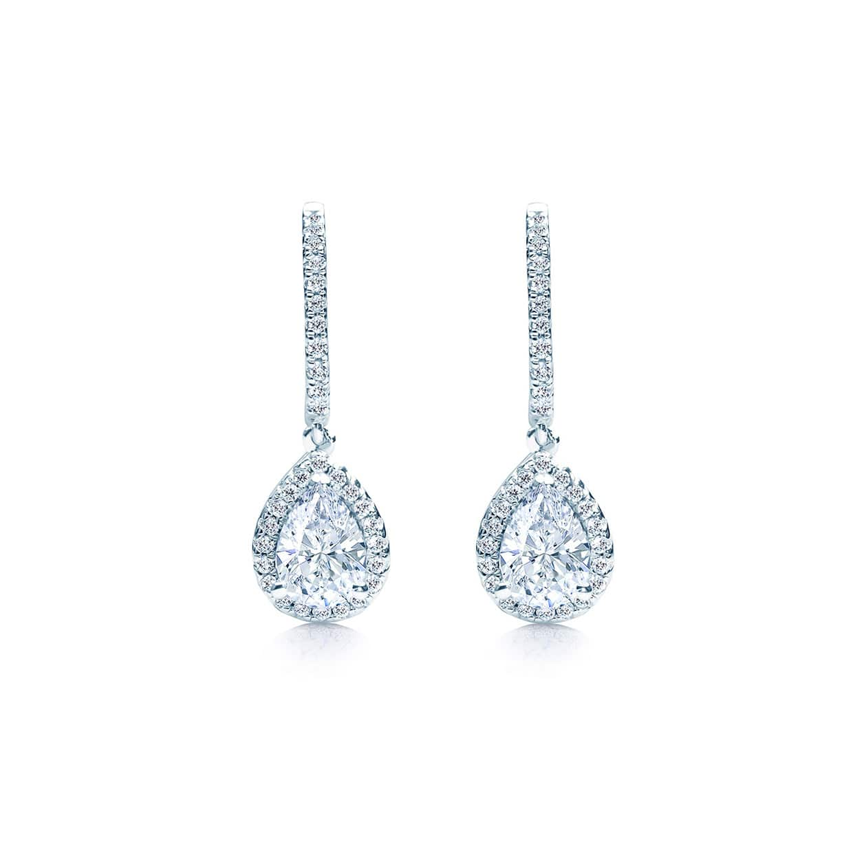 Oxford Silver Long Pear Drop Earrings - Abelstedt
