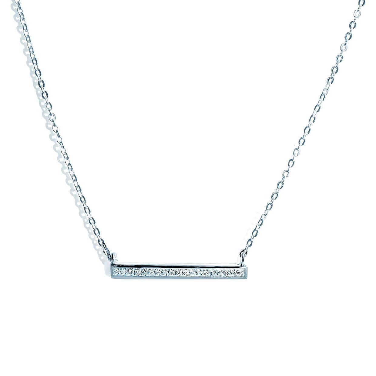 Oxford Silver Long Petite Necklace - Abelstedt