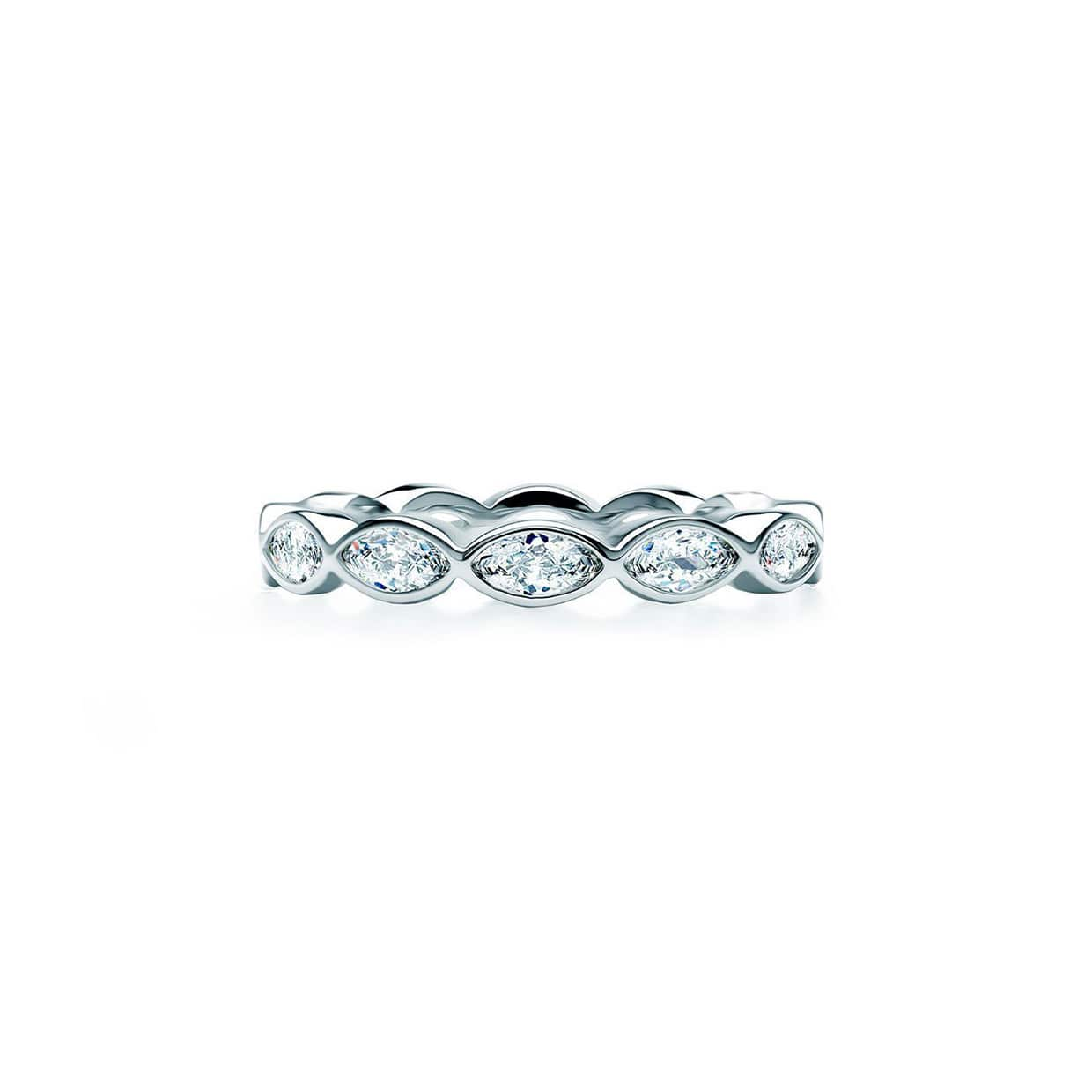 Oxford Silver Marquise Band Ring