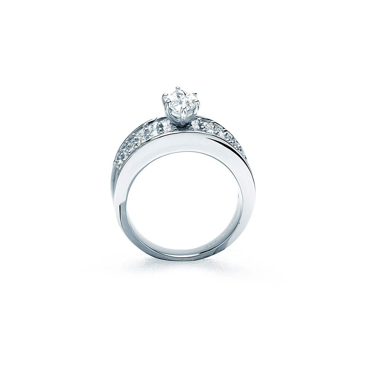 Oxford Silver Marquise & Princess Cut Ring - Abelstedt