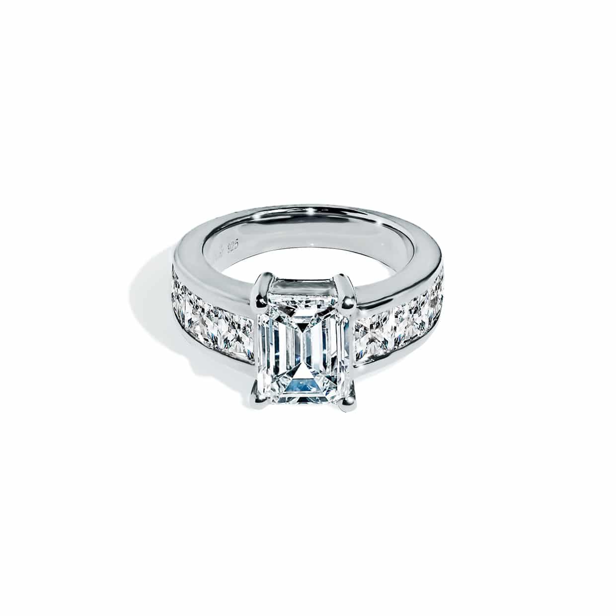 Oxford Silver Princess & Radiant Ring - Abelstedt